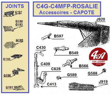 CITROËN C4G-C4MFP-ROSALIE- Accessoires