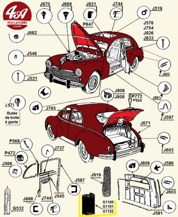 Peugeot 203 - Accessoires de carrosserie