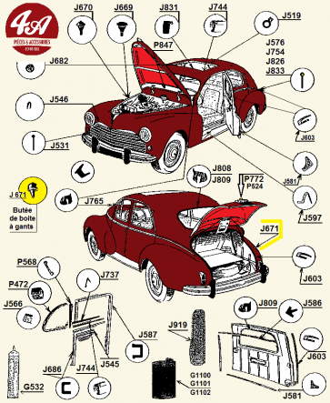 Peugeot 203 - Carrosserie