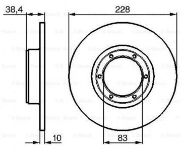 DISQUES DE FREIN Ø 228 mm, épaisseur 10 mm, 6 TROUS pour RENAULT R4 R5 R6