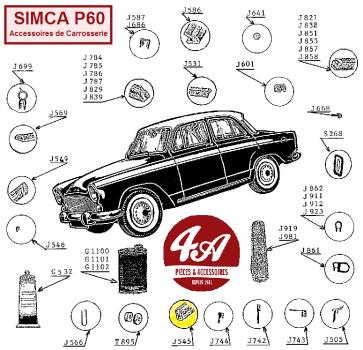 Accessoires de Carrosserie SIMCA P60