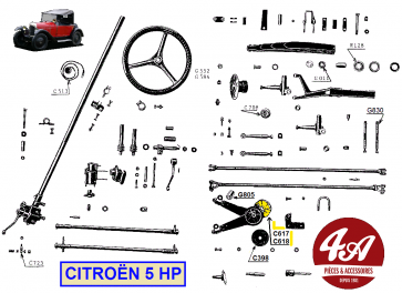 Citroën 5HP - Suspension direction