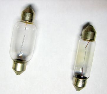 LAMPE NAVETTE 12 VOLTS 15 WATTS, Ø 15.5 mm longueur 41 mm, pour SIMCA-Fiat 6cv, Fiat 508 Balilla