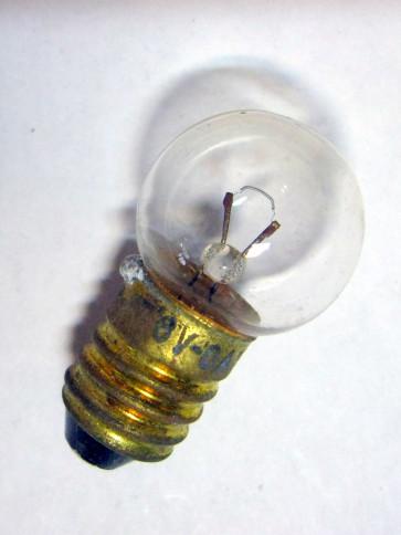 LAMPE TÉMOIN 6 VOLTS, 0.35 WATTS, culot Ø 9 mm à visser, pour RENAULT Floride, Caravelle...