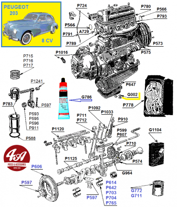 Peugeot 203 403 - Moteur 8 cv