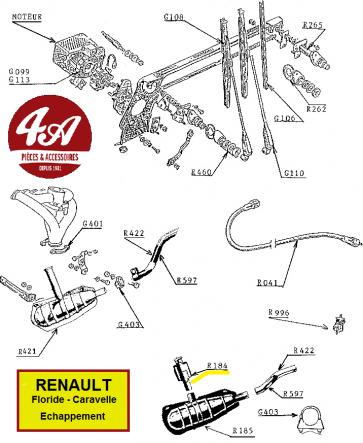 Renault Floride Caravelle - Echappement