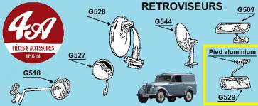 Renault Juvaquatre - Rétroviseurs
