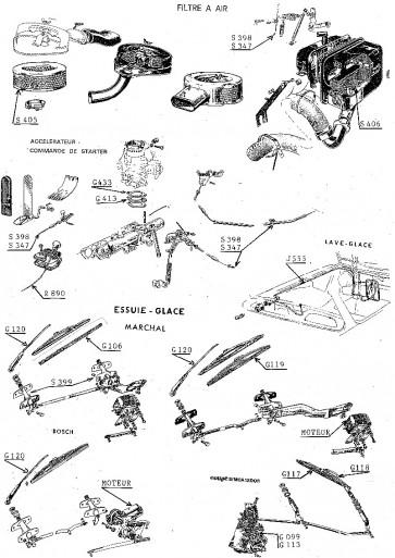 SIMCA 1000... 1200S - Accessoires
