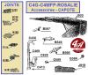 CLAVETTE de CROCHET de CAPOTE - CITROËN A-B2-B10-B12-B14, C4..., C6..., Rosalie
