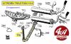 TUBE AVANT D'ECHAPPEMENT DOUBLE en acier - CITROEN TRACTION 15-6