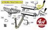 TUBE ARRIERE D'ECHAPPEMENT en acier (oléo) - CITROËN Traction 15-6 Oléopneumatique