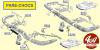 JOINT (caoutchouc) de FERRURE de PARE-CHOCS - RENAULT Floride, Caravelle