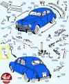 RETROVISEUR ROND CHROMÉ (véhicules dans description du produit)
