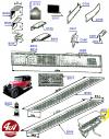 MARCHEPIEDS en aluminium ondé, largeur 200 mm x 220 mm, longueur 1250 mm