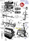 VIS DE FIXATION DE CULASSE Longueur 107 mm, Ø 12 mm pas 50 - CITROËN HY, Traction 11...