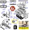 PALIERS DE RETOUR D'HUILE en aluminium - CITROËN C4... C6... ROSALIE