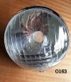 OPTIQUE DE PHARE CIBIÉ 348 (réplique) + Cercle chromé (portière) - CITROËN TRACTION 15/6