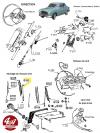 BRAS D'ESSUIE GLACE à emboitement courbé en inox - PEUGEOT 403, 404... SIMCA Ariane 4, Aronde, P60, Vedette...