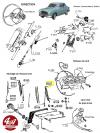 BALAI D'ESSUIE GLACE à fourche en inox - PEUGEOT 403, 404..., RENAULT Dauphine, Frégate, Prairie..., SIMCA Ariane 4, Aronde, P60, Vedette...
