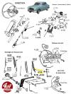 RACLETTE D'ESSUIE GLACE en caoutchouc, longueur 280 mm, pour plusieurs véhicules.