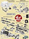 SILENTBLOC DE BOITE A VITESSES, axe de fixation 280 mm: échange standard - PEUGEOT 203, 403, 403 D...