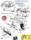 THERMOMETRE FOND NOIR avec SONDE de 3000 mm - CITROËN TRACTION 15-5... RENAULT 4CV, DAUPHINE...