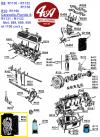 POCHETTE COMPLETE de JOINTS MOTEUR 688 / 689 - RENAULT R8, Estafette, Caravelle..., Matra Jet