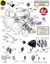 FEU ARRIERE en nickel, 3 fonctions pour PEUGEOT 201... SIMCA Balilla 6 cv - Fiat 508...
