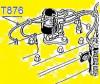 FAISCEAU D'ALLUMAGE (fils de bougies) entrée HORIZONTALE 4 cylindres, pour plusieurs modèles de véhicules